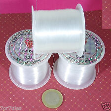 2 Carretes de Hilo 0.25 Transparente Especial Para Engarce Filo Thread Fil 0,25