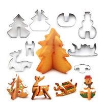 8 Teile / satz Edelstahl 3D Weihnachts Ausstecher Kuchenform Fondant DIY Backen