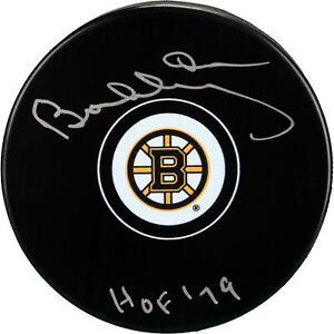 Bobby Orr Bruins Signed Hockey Puck & HOF 79 Insc - Fanatics