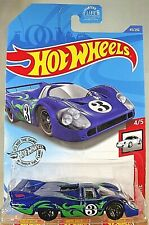 2020 Hot Wheels #45 Porsche 4/5 PORSCHE 917 LH Dark Blue w/Black 5 Spoke Wheels