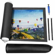 """Rollable Jigsaw Puzzle Mat Inflatable Tube Storage Bag up to 1500pcs 46.5""""x26.5"""""""