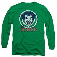 BATMAN JOKER TARGET Licensed Adult Men's Long Sleeve Graphic Tee Shirt SM-3XL