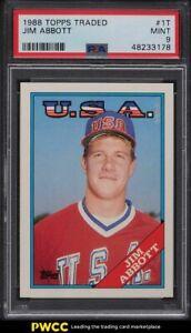 1988 Topps Traded Jim Abbott ROOKIE RC #1T PSA 9 MINT