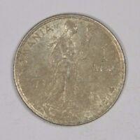 ROMANIA 1914 1 LEU SILVER! - CLASSIC! INV#528