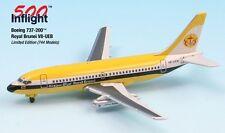Royal Brunei V8-UEB 737-200 Airplane Miniature Model Metal Die-Cast 1:500
