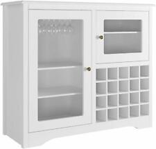 Furniture Wood Wine Rack Buffet & Storage Cabinet, White