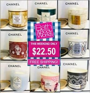 Bath & Body Works White Barn 3-Wick Scented Candle *Mix & Match* 14.5oz