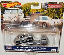 HOT WHEELS CAR CULTURE TEAM TRANSPORT PORSCHE 356A OUTLAW & VOLKSWAGEN T1 PICKUP