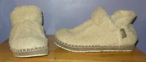 Nice! L.L. Bean Fleece & Suede Bootie Slippers! Must See! Women's Size 8