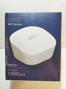 BRAND NEW - EERO Single Unit 1500 Sq Ft Wi-Fi Router System J010111 1-Pack