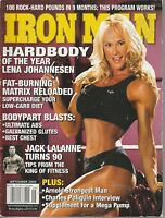 SEPT 2004 IRON MAN vintage body building magazine LENA JOHANNESEN