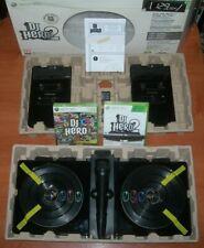 DJ Hero 2 + 2 mesas de mezclas + micrófono XBOX 360 (PAL España sin usar)
