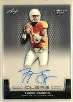 TYRONE SWOOPES - 2017 Leaf Trinity Clear AUTO SP - Pittsburgh RC