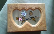 "London crafted Co Handcrafted 5"" Jewelry Box Stained-Glass Lid Flowers"