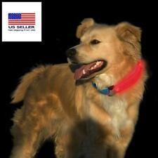 LED Dog Pet Collar Flashing led Adjustable Safety Light Universal Fit ColarCover