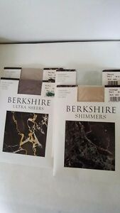 2X NEW BERKSHIRE ULTRA SHEERS CONTROL TOP SANDALFOOT PANTYHOSE SZ:1 OR 2