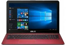 """ASUS 15.6"""" Laptop N3050 1.60 GHz 4GB 500GB HDD Windows 10 Home - Red"""
