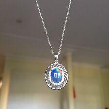 Elegant Design 100% Australia Triplet OPAL pendant Sterling Silver S925 #014