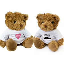 NEW - Bride And Groom Teddy Bears - Cute And Cuddly - Wedding Present Gift
