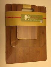 Cooks Corner set of 3 100% Natural Bamboo Cutting Board Set Free Shipping!!!
