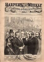 1877 Harpers Weekly March 24-Hayes takes the Oath;Greyhound Coursing; Grant
