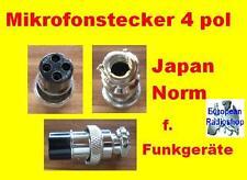 Mikrofon Stecker für Funkgeräte 4 Pol ( Japan Stecker )