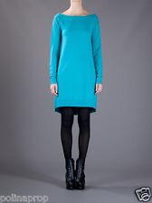 NWT DVF Diane von Furstenberg Branitta Wool Cashmere Dress Sea Glow P XS $345