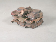 Ho Scale Stack of Rusted Out Cars #2