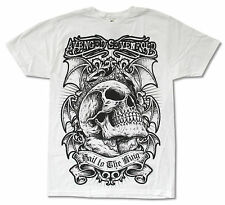 Avenged Sevenfold Hail To The King Jumbo Print White T Shirt New Official