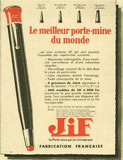 Publicité ancienne porte-mine Jiff 1932 issue de magazine