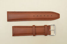 24mm watch band  honey  man's genuine leather  Long strap padded