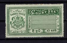 BP87889/ INDIA / NABHA / PRINCELY STATE / COURT FEE / 2 RUPEES MH