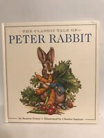 The Classic Tale of Peter Rabbit by Beatrix Potter Board Book First Edition 1986