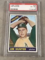 1966 TOPPS #36 JIM CATFISH HUNTER PSA EX-MT 6 HOF
