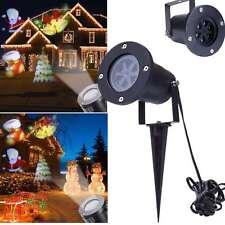 LED Laser Licht Projektor Weihnachtsmann Weihnachten Außen Gartenlicht Deko Lamp