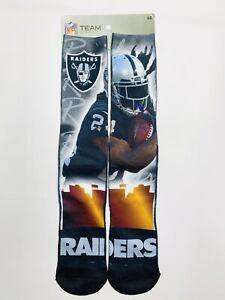 Las Vegas Raiders NFL FBF Socks Large Mens 10-13 Marshawn Lynch For Bare Feet