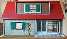 DDR Puppenhaus, Vorstadthaus mit Kamin, Vero, alt, Vintage, mit Original Karton
