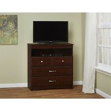 TV Stand Dresser For Flat Screens Bedroom Entertainment Center Storage Drawers