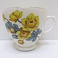 Fine Bone China TUDOR TEACUP Replacement England Yellow Flowers
