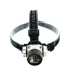 Headband Flashlight Head Lamp For Hiking Camping Adjustable Fishing Headlight