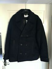 Topman Navy Pea Coat in Navy Blue XL (New with Tags)