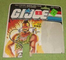 G.i. Joe Dreadnok Ripper Backing Card Action Figures Collectible