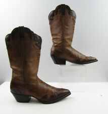 Ladies Twisted X Brown Leather Pointed Toe Cowboy Western Boots Size: 9 B