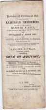 1866 LARGE PRINTED CIRCULAR POWELL OF BATH SELLING LEASEHOLD PROPERTIES AUCTION