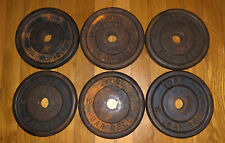 Vintage York Barbell 6 Standard 10 Lb Plates cast iron (NO PRICE GOUGING!!!)