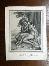 Gravure Pointillés 18e s. POLINDO & ALBAROSA Conde Cosway ANTIQUE PRINT Stipple