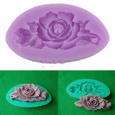 Rose Flower Silicone Fondant Mould Cake Decorating Chocolate Baking Mold Tool