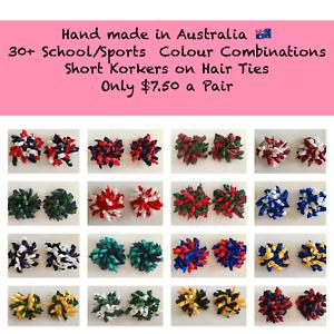 School  Colour Korker Hair Ties 30+ Colours Plus Custom Colours available