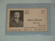scarce 1900s OLIVER JENKINS BUISNESS CARD~KNOXVILLE,TENN HISTORICAL STORE~ RARE