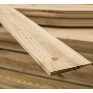 Feather Edge Boards Close board Fence Panels Cladding - Treated Timber Fencing